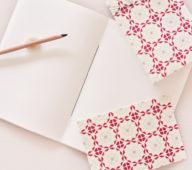 Ensemble / set de papeterie avec carnet japonais relié à la main • Atelier 23janvier • Papeterie artisanale et décoration d'inspiration japonaise