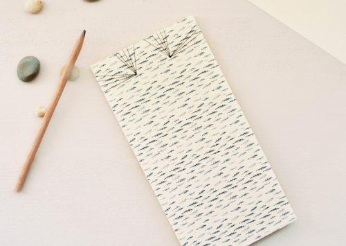 Carnet japonais motif Cyprès chauve - papeterie artisanale fabriquée dans le sud-ouest • Carnet relié à la main, illustré d'un motif végétal