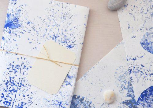 Papier japonais imprimé à la main - motif de feuilles de figuier décliné en plusieurs couleurs • Créé et fabriqué avec soin par l'atelier 23janvier