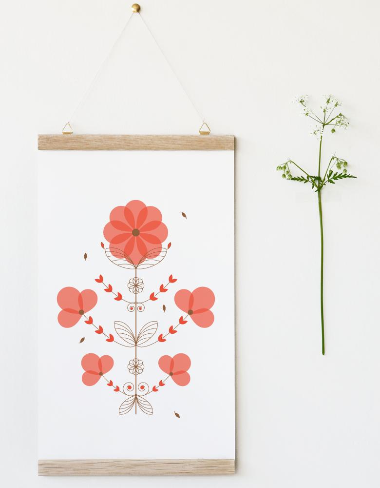 Affiche Coquelicot - illustration d'inspiration florale • L'atelier 23janvier propose une collection d'affiches inspirée du monde végétal et de la nature
