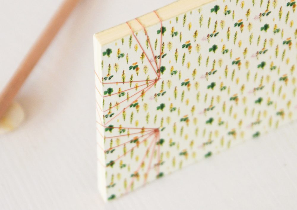 """Carnet japonais illustré du motif végétal """"Cyprès chauve"""" - papeterie artisanale créée dans le sud-ouest de la France → e-shop 23janvier"""