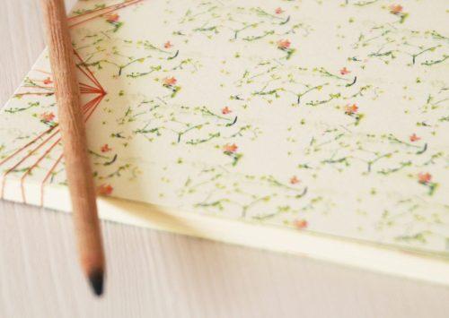"""Carnet japonais illustré du motif floral et printanier """"Liberty"""" - carnet japonais créé et fabriqué dans le sud-ouest de la France → e-shop 23janvier"""