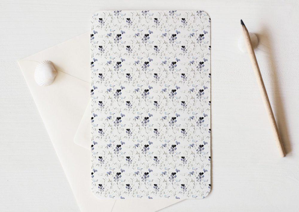 Grande carte illustrée (enveloppe incluse) - motif de fleurs inspirée du Cognassier du Japon • Papeterie artisanale fabriquée par 23janvier
