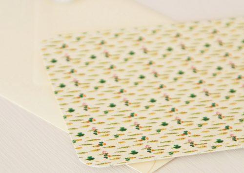 Grande carte illustrée (enveloppe incluse) - motif floral coloré et délicat Cyprès chauve • Papeterie artisanale fabriquée par l'atelier 23janvier