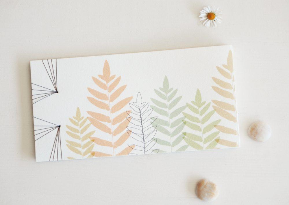 Carnet japonais - motif fougère • Papeterie par 23janvier