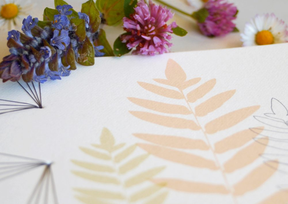 23janvier - carnet japonais motif fougère • Papeterie artisanale